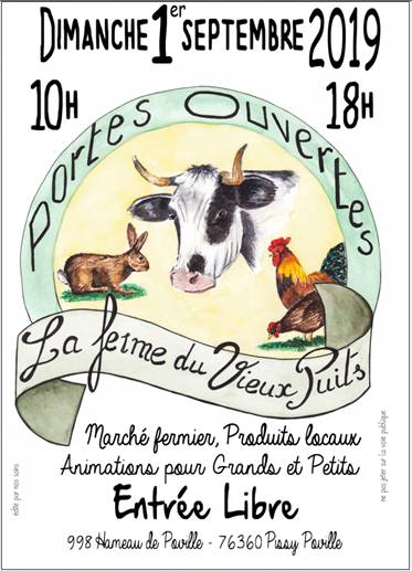 Journée Portes Ouvertes à la ferme du Vieux Puits à Pissy Poville (76)