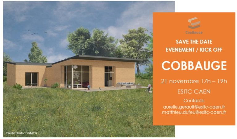21 nov. 17h-19h : conférence sur le projet CobBauge à l'ESITC de Caen