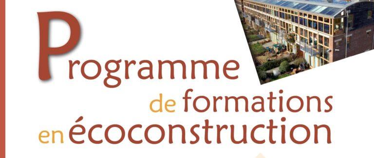 Formations en écoconstruction oct.-déc. : demandez le programme !