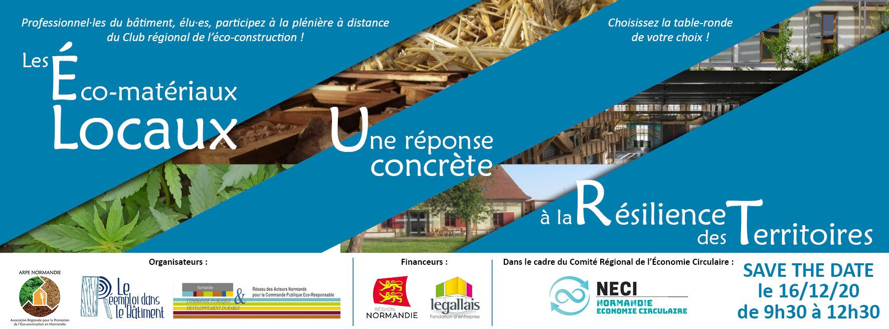 Les compte-rendus de la plénière sur les éco-matériaux locaux du 16/12/20 sont disponibles !