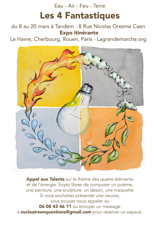 Appel aux talents : Eau, Air, Feu, Terre… Les Quatre Fantastiques