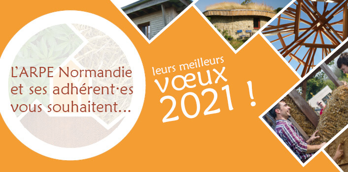 L'ARPE Normandie et ses adhérent·es vous souhaitent leurs meilleurs vœux 2021 !