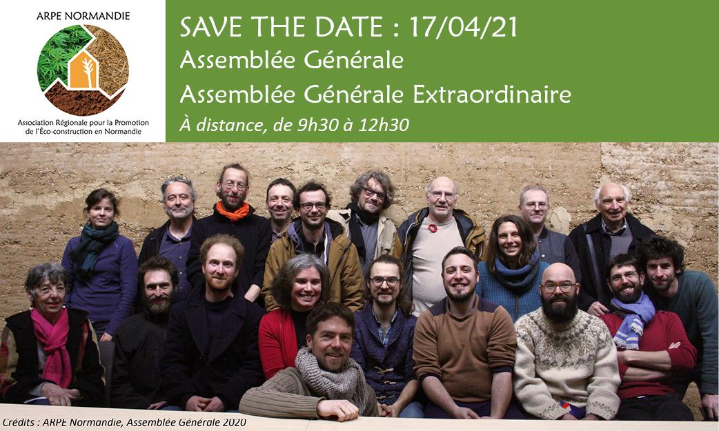 SAVE THE DATE : 17/04, Assemblée Générale & Assemblée Générale Extraordinaire de l'ARPE Normandie