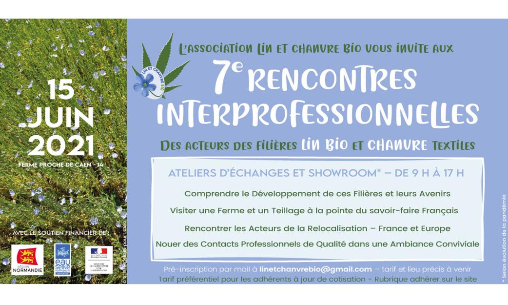 15/06 : rdv aux rencontres interprofessionnelles lin bio & chanvre textiles