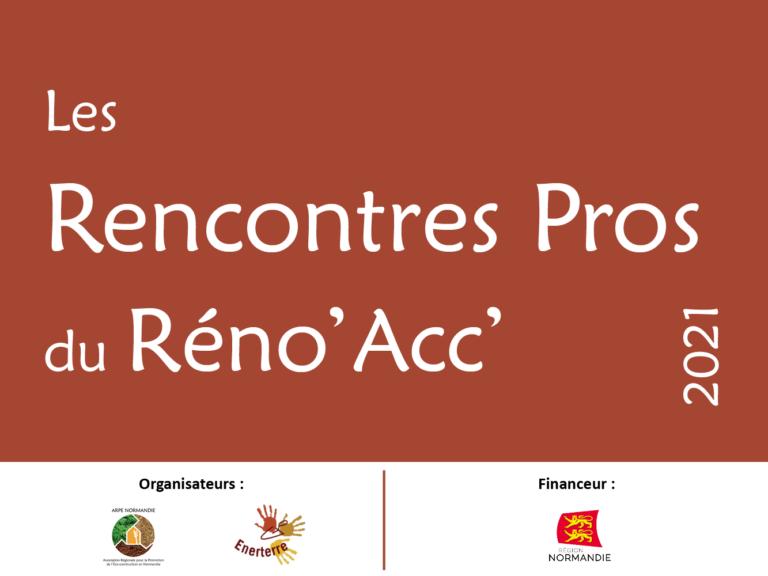 Les Rencontres Pros du Réno'Acc' en replay sur YouTube
