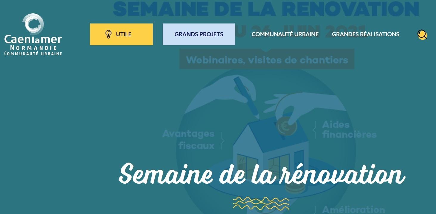 Du 22 au 26 juin : Semaine de la rénovation à Caen la mer